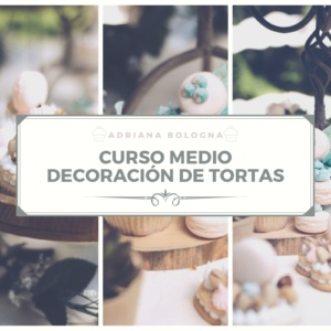 curso decoración de tortas nivel medio