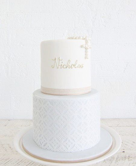 tortas para bautismo