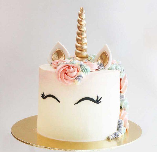 torta de unicornio para niñas