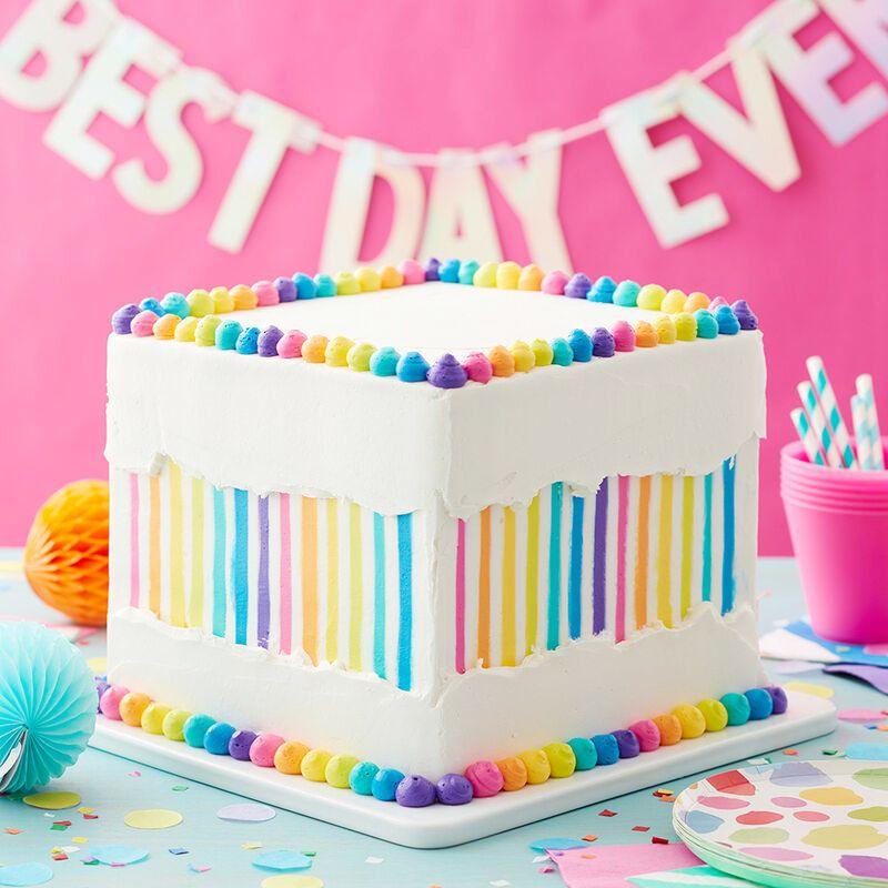 tortas con arcoiris